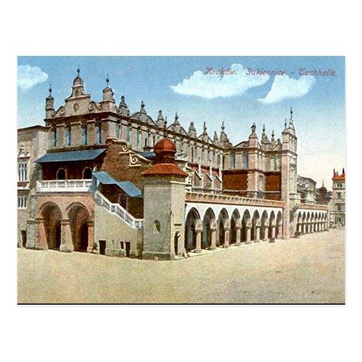 Old Postcard - Cloth Hall, Krakow, Poland