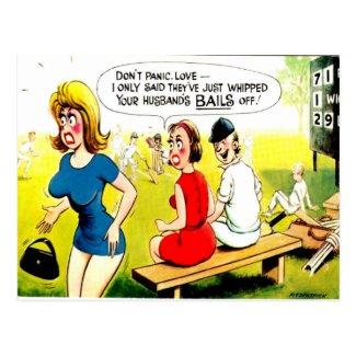 Old Postcard - Comic Cricket Postcard