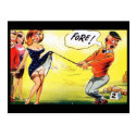 Old Postcard - Comic - Golf - Fore !