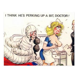 Old Postcard - Comic, Medical