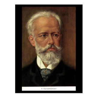 Old Postcard - Composers - Tchaikovsky