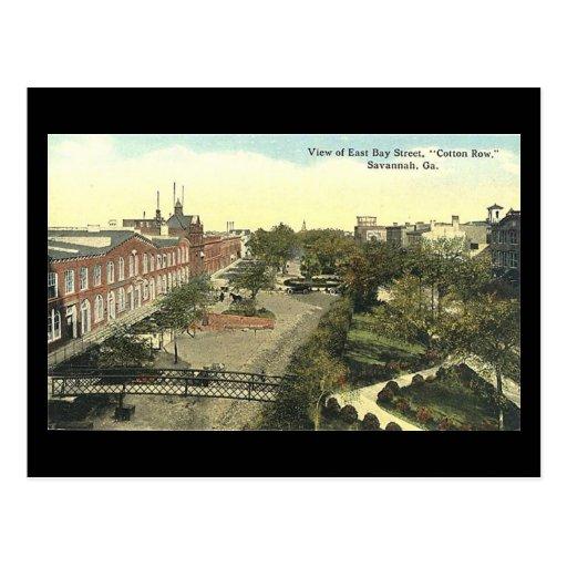Old Postcard, Cotton Row, Savannah, Georgia