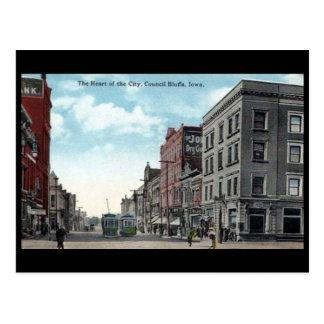 Old Postcard - Council Bluffs, Iowa, USA