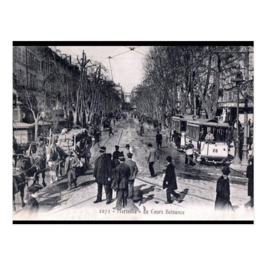 Old Postcard - Cours Belsunce, Marseille