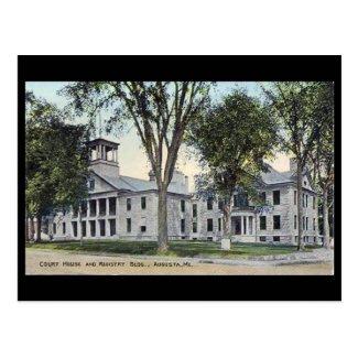 Old Postcard - Court House, Augusta, Maine