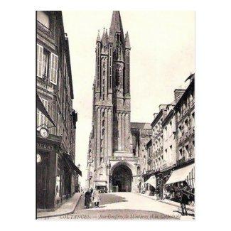 Old Postcard - Coutances, Manche