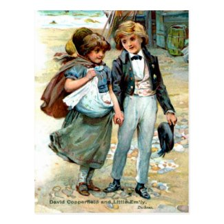 Old Postcard, David Copperfield by Charles Dickens Postcard