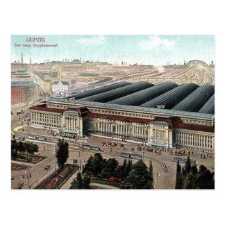 Old Postcard - Der Neue Hauptbahnhof, Leipzig