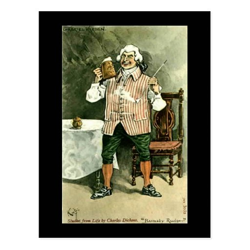 "Old Postcard, Dickens, ""Barnaby Rudge"""