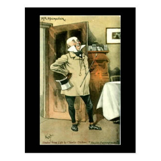 Old Postcard, Dickens, Copperfield, Mr Micawber Postcard