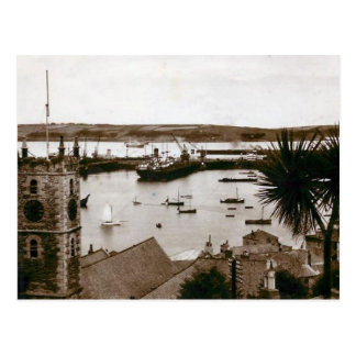 Old Postcard - Docks, Falmouth, Cornwall
