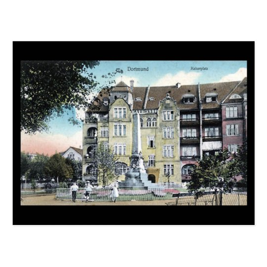 Old Postcard - Dortmund, Kaiserplatz in 1908