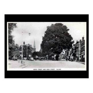 Old Postcard, Ealing, Bond St and High St Postcard