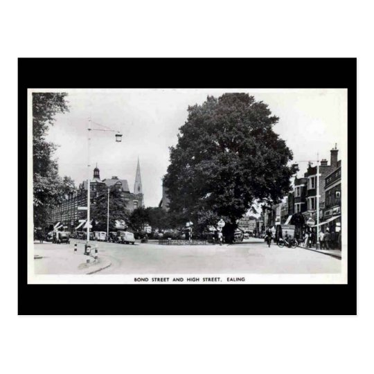 Old Postcard, Ealing, Bond St and High St