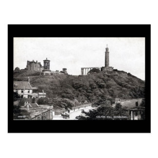 Old Postcard, Edinburgh, Calton Hill in 1930 Postcard