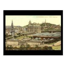 Old Postcard, Edinburgh from the Castle Postcard