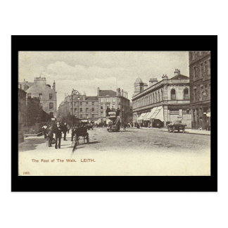 Old Postcard, Edinburgh, Leith, Foot of the Walk