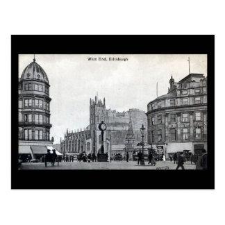 Old Postcard, Edinburgh, West End Postcard