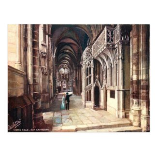 Old Postcard - Ely Cathedral, Cambridgeshire