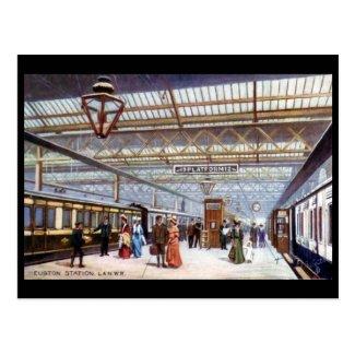 Old Postcard - Euston Station, London