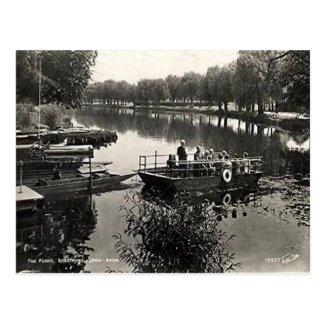 Old Postcard - Ferry, Stratford-upon-Avon