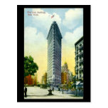 Old Postcard, Flat Iron Building, New York City Post Card