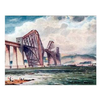 Old Postcard - Forth Bridge, Scotland