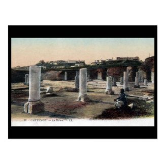 Old Postcard - Forum, Carthage, Tunisia