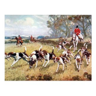 Old Postcard - Fox Hunting