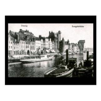 Old Postcard, Gdansk/Danzig, Langebrucke