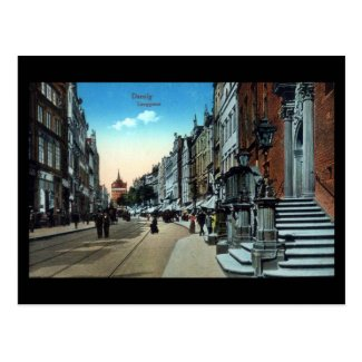 Old Postcard, Gdansk/Danzig, Langgasse