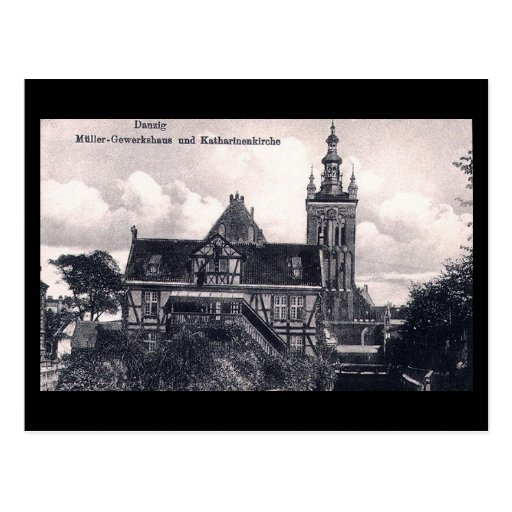 Old Postcard, Gdansk/Danzig, Poland