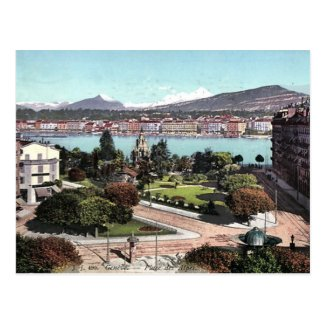 Old Postcard - Geneva, Switzerland