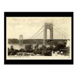 Old Postcard, George Washington Bridge, New York C Postcards