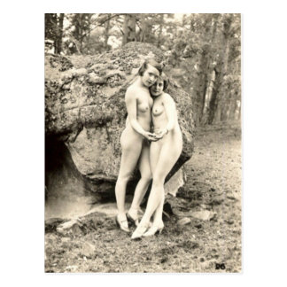 Old Postcard, Girl Friends Postcard