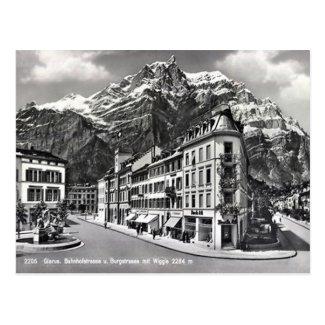 Old Postcard - Glarus, Switzerland