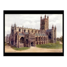 Old Postcard - Gloucester Cathedral