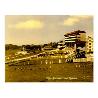 Old Postcard - Grandstand, Epsom, Surrey