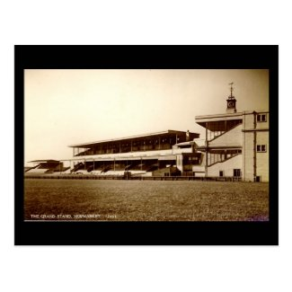 Old Postcard - Grandstand, Newmarket Racecourse