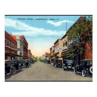Old Postcard - Greenwood, Mississippi