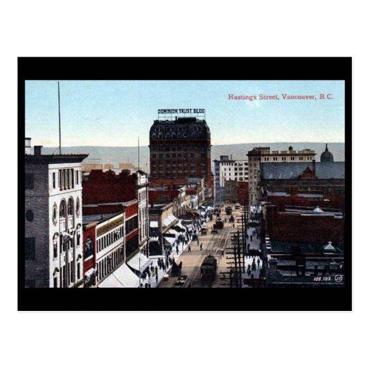 Old Postcard - Hastings Street, Vancouver, BC