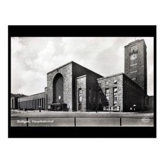 Old Postcard - Hauptbahnhof, Stuttgart