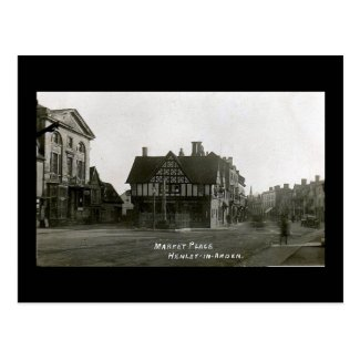 Old Postcard, Henley-in-Arden, Market Place
