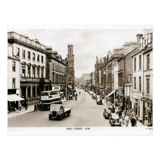 Old Postcard - High St, Ayr, Scotland