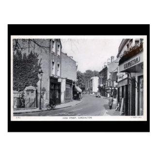 Old Postcard - High St, Carshalton, London.