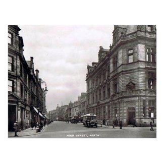 Old Postcard - High St, Perth, Scotland