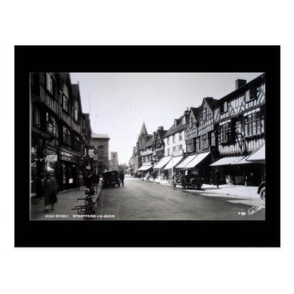 Old Postcard, High St, Stratford-upon-Avon Postcard