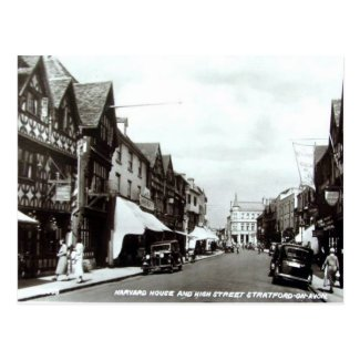 Old Postcard - High St, Stratford-upon-Avon, Warks
