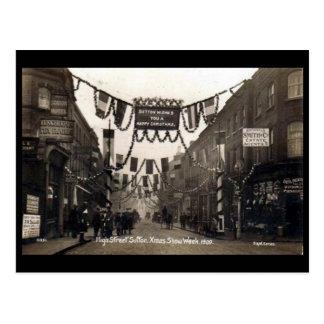 Old Postcard - High St, Sutton, Surrey