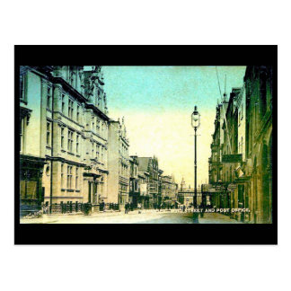 Old Postcard - High Street and Post Office, Swanse